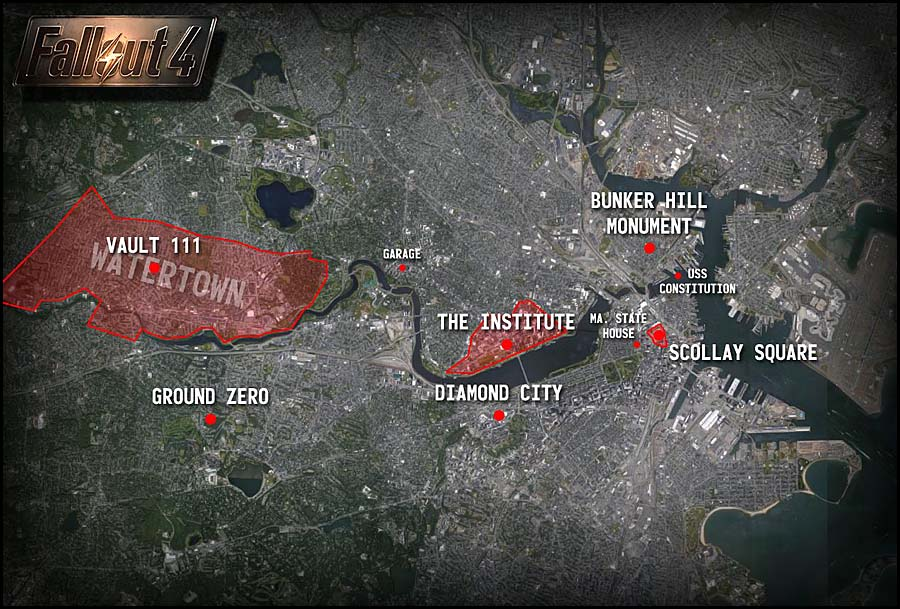 Fallout 4 Map Reveal: Locations, Vault 111, Ground Zero
