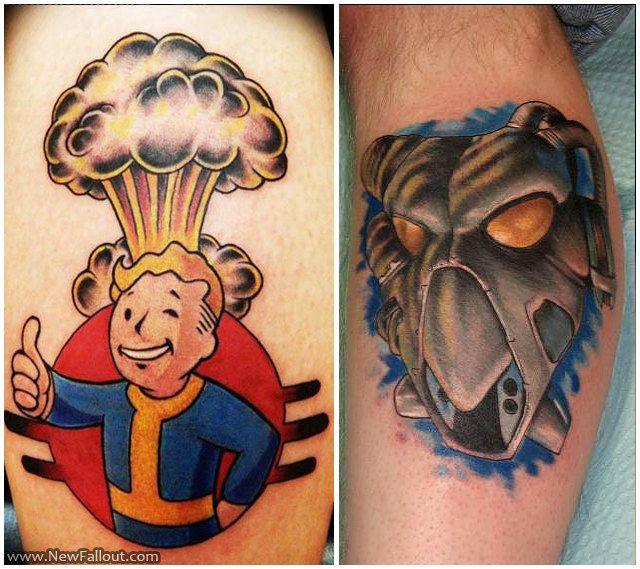 Vault Boy Tattoo Vault Boy And Enclave Tattoo