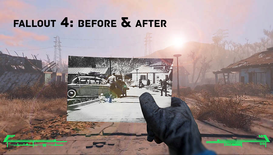 fallout 4 before and after