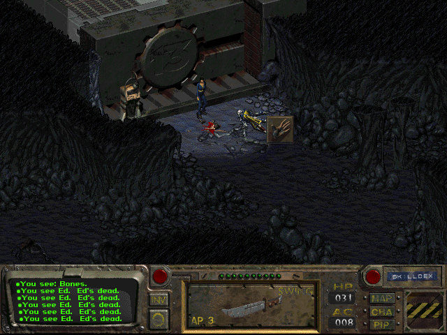fallout 1 quick start vault 13 entrance